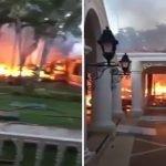 Hotel Grand Bahía Príncipe El Portillo, Las Terrenas, en Samaná afectado por incendio; Vídeo