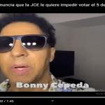 Jugando con candela? Junta Central Electoral también le jode su derecho al artista Bonny Cepeda; Vídeo