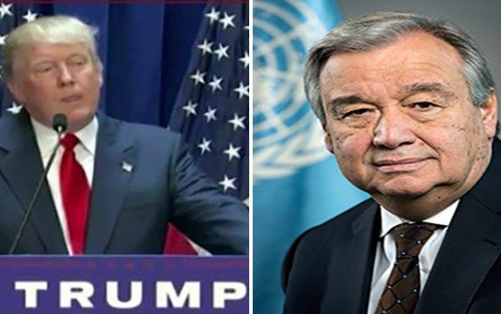 """Atrevimiento…!!! Secretario general ONU a Trump """"no es el momento para cuestionar ni suspender fondos»"""