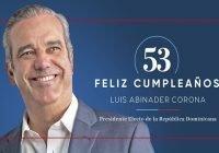 Presidente Abinader agradece gestos de ciudadanos lo felicitan por celebración aniversario de su nacimiento