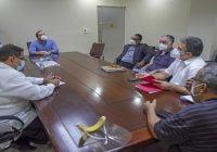 Carlos José Then Contín, Director de Codopesca se reúne con representantes del sector pesquero
