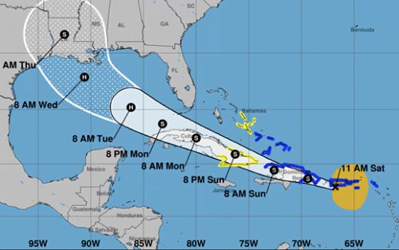 NHC vigila a Diez, Laura y Marco y emite aviso de Tormenta Tropical para las costas norte y sur de la RD