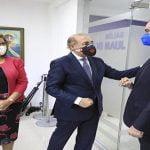 Presidente Abinader visita al presidente del PLD Danilo Medina; Estuvieron varios secuases de Danilo