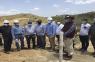 Administrador de la Egehid visita la construcción de la presa de Guayubín