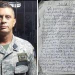 Coronel Martínez Martínez no deja dudas se suicidó, pero… que nos sirva de reflexión; Aquí la carta