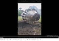 Desecho espacial cae en el puente de El Abanico, en Villa Riva, San Francisco de Macorís; Vídeo