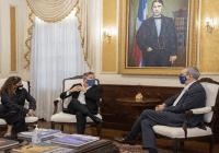 Presidente Luis Abinader recibe a Ricardo Montaner en el Palacio Nacional