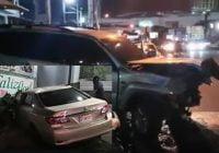 Aparatoso accidente en la avenida 27 de Febrero, esquina calle Emilie Boyre, Evaristo Morales; Vídeos