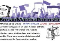 Este martes Bonao seguirá jornada «#BonaoMarchaPorJusticia» entre estos el caso Andrés Estrella; Vídeo