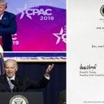 PresidenteDonald Trump sorprende a Biden con simple y concisa nota: «Joe, sabes que gané»