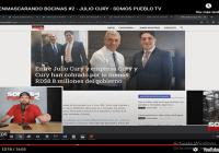 Somos Pueblo desenmascarando bocinas: Sólo tres instituciones pagaron a Julio Cury 9 millones; Vídeo