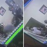 Presidente si reciben esta banda de policías a cabillasos o tiros. Qué opinión le merece?; Compare los vídeos