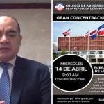 Colegio de Abogados reiterá pedirá mañana en SCJ renuncia de Luis Henry Molina; Vídeo