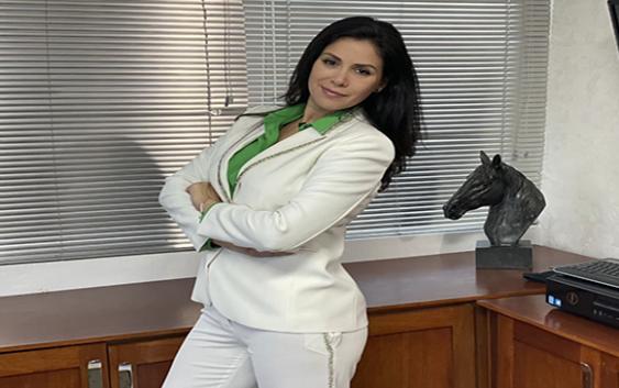 Cynthia Zárate referente de la Lega en la Republica Dominicana