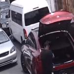 Señores cuídense: Por tránsito delincuentes la emprenden a tiros contra otro conductor a plena luz; Vídeo