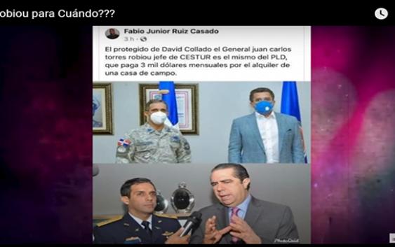 Corrupción al Desnudo: General Torres Robiou del Cestur se robó casa y David Collado lo proteje; Vídeo