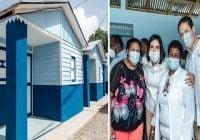 Primera dama y director del Invi entregan viviendas a familias damnificadas de incendio en Pimentel