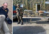 Mayor de la PN Mercedes Cabrera, Encargado DNCD en El Carrizal, Elías Piña apresado con 63 pacas drogas