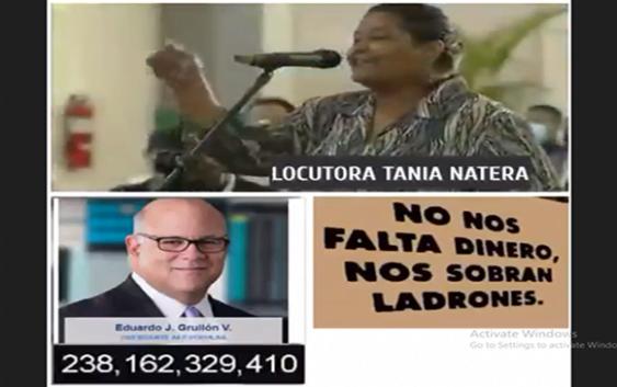 Tania Natera: Los ciudadanos tenemos la percepción que el robo de las AFP y ARS debe desaparecer; Vídeo