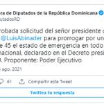 «Afilar cuchillo para su garganta» PRM y Cámara de Diputados trabajando en eso; Tweet
