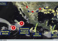 NHC informa la formación de la tormenta tropical Ignacio y ofrece pronósticos sobre Huracán Hilda