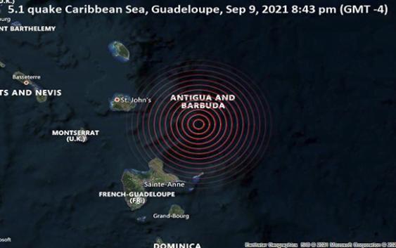 Terremoto de magnitud 5.1 se registra en Guadalupe y Antigua y Barbuda