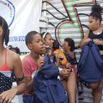 Niños de los barrios Villa María y Mejoramiento Social reciben mochilas y útiles escolares de Funvimameso