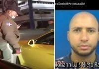 Sospechosa fuga: Que dice sujeto Porsche amarillo miembro de antisociales no dejan dormir a nadie; Vídeo