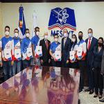 Mescyt otorga becas con cobertura total a once jóvenes ganadores primer lugar concurso NASA