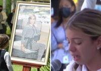 Dolor, indignación, consternación y agradecimientos en Cristiana sepultura de Leslie Rosado y su bebe