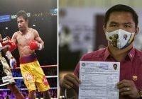 Boxeador y senador de Filipinas Manny Pacquiao se retira y anuncia su candidatura a la presidencia; Vídeo